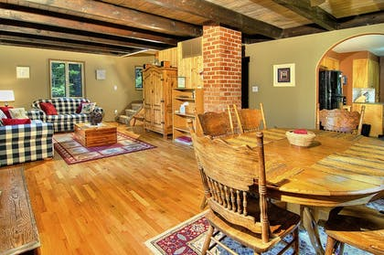 Living Area | Ridge View Retreat - Three Bedroom Cabin with Hot Tub