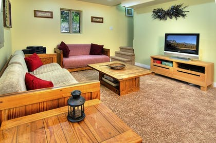 Living Room | Ridge View Retreat - Three Bedroom Cabin with Hot Tub
