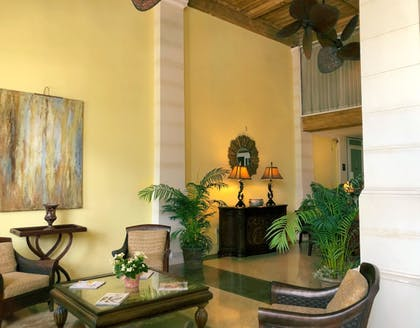 Lobby Sitting Area | Designer Decorated Palm Beach Hotel NEW