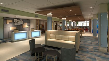 Lobby Sitting Area | Holiday Inn Express & Suites Lexington W - Versailles