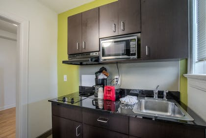 In-Room Kitchenette | Quality Inn & Suites Kansas City Downtown
