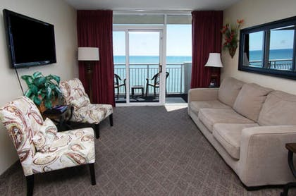 Living Room | Camelot by the Sea by Elliott Beach Rentals