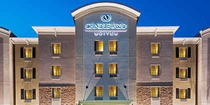 Hotel Front - Evening/Night | Candlewood Suites Rochester Mayo Clinic Area
