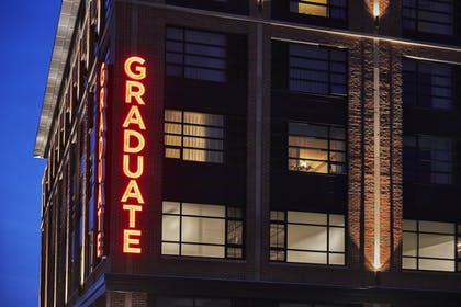 Hotel Front - Evening/Night | Graduate Bloomington