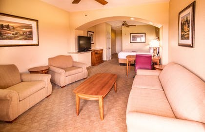 Living Area | La Quinta Inn & Suites by Wyndham Marble Falls
