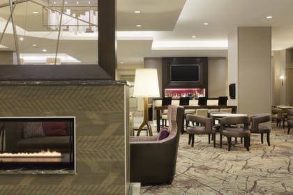 Fireplace | Residence Inn Alexandria Old Town South at Carlyle