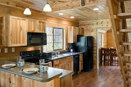 In-Room Kitchen | Rock Crest Lodge And Cabins