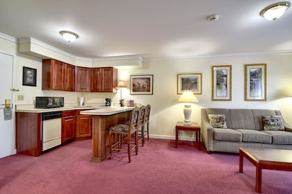 Living Area | Roosevelt Inn and Suites Saratoga Springs
