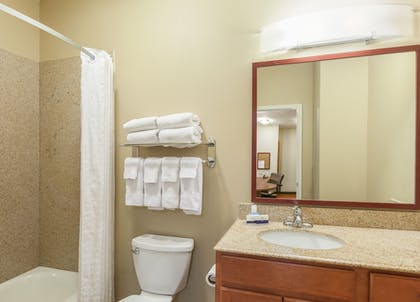 Bathroom | Candlewood Suites Lake Jackson Clute