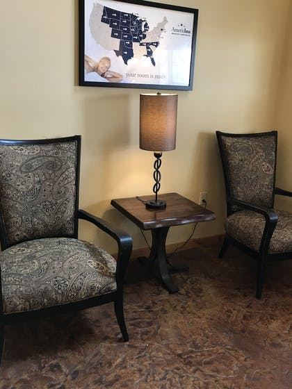 Lobby Sitting Area | AmericInn by Wyndham Fargo Medical Center