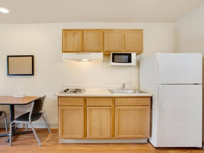 In-Room Kitchen | WoodSpring Suites Mobile Daphne