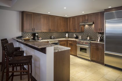 In-Room Kitchen | Madeline Hotel & Residences, Auberge Resorts Collection