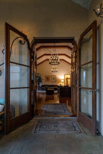 Interior Entrance | The Willows Historic Palm Springs Inn
