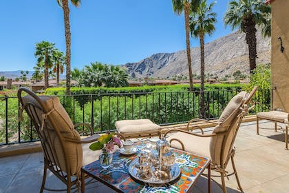 Balcony View | The Willows Historic Palm Springs Inn