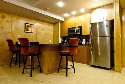 In-Room Kitchen | The Eldon Luxury Suites