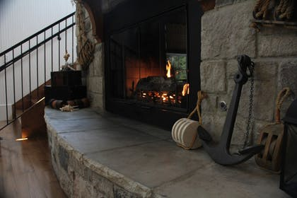 Fireplace | Stormy Point Village Resort