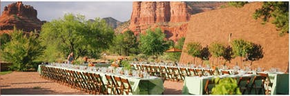 Outdoor Wedding Area | Red Agave Resort