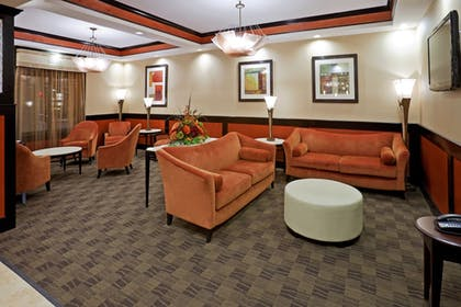 Lobby Sitting Area | Holiday Inn Express Hotel & Suites Dallas Central Market Ctr