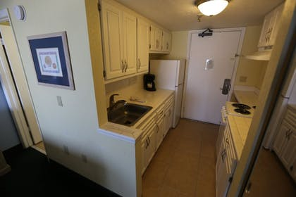 In-Room Kitchen | Shoreline Island Resort - Exclusively Adult