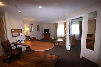 Living Area | Candlewood Suites Watertown Fort Drum