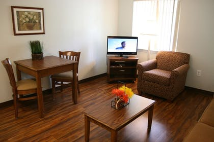 Living Area | Affordable Suites