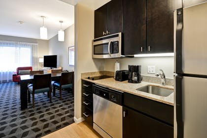 In-Room Kitchen | TownePlace Suites by Marriott Dallas Lewisville