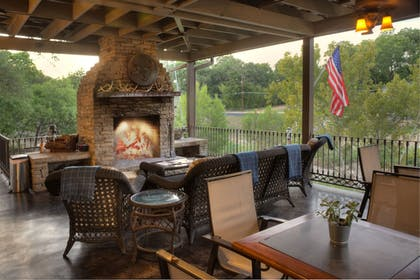 Terrace/Patio | The Lodge Above Town Creek