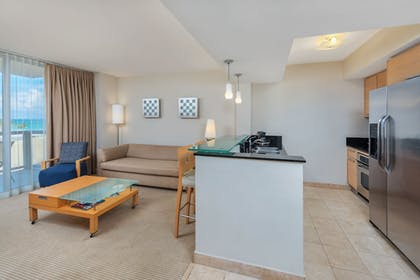 Living Area | MARENAS BEACH RESORT privately managed by Miami and the Beaches Rental