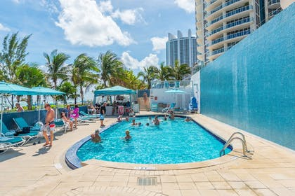 Pool Waterfall | MARENAS BEACH RESORT privately managed by Miami and the Beaches Rental