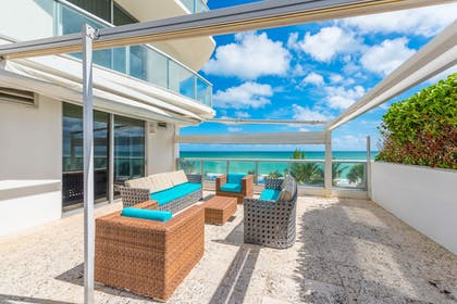 Terrace/Patio | MARENAS BEACH RESORT privately managed by Miami and the Beaches Rental