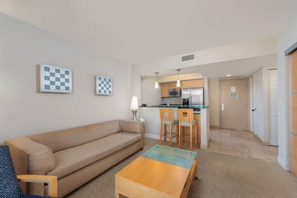 Living Room | MARENAS BEACH RESORT privately managed by Miami and the Beaches Rental