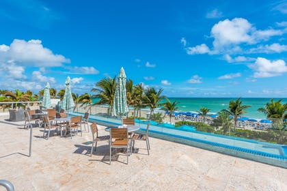 Outdoor Banquet Area | MARENAS BEACH RESORT privately managed by Miami and the Beaches Rental