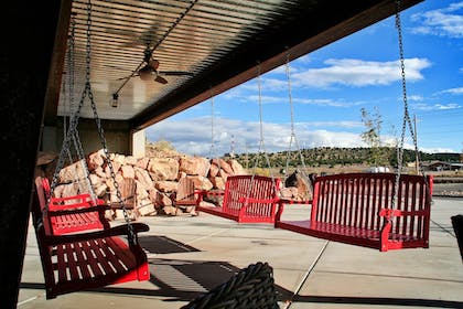 BBQ/Picnic Area | Luxury Lodge & Spa, Cabins, Camping, Glamping, and RV w/full hook ups-