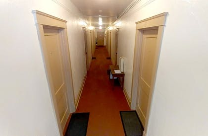 Hallway | Historic Whiting Hotel Suites