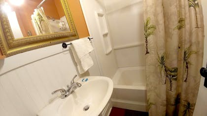 Bathroom | Historic Whiting Hotel Suites