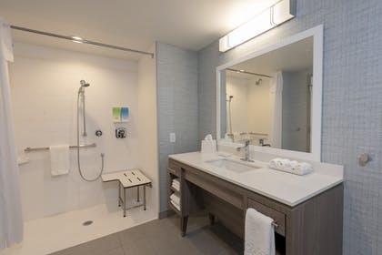 Bathroom | Home2 Suites by Hilton Indianapolis Airport