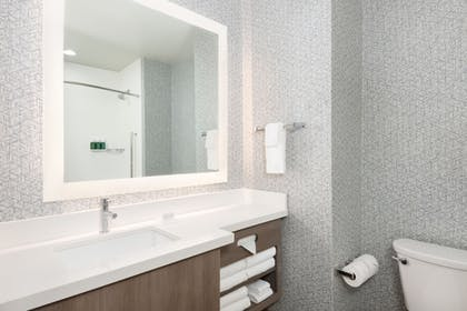 Bathroom | SpringHill Suites by Marriott Panama City Beach Beachfront