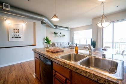 In-Room Kitchen | Elegance + Elevation: Mile High Condo in Highland