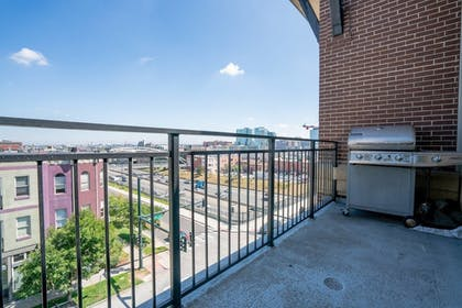 Terrace/Patio | Elegance + Elevation: Mile High Condo in Highland