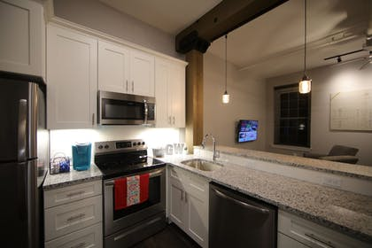 In-Room Kitchen | Gibson's Warehouse