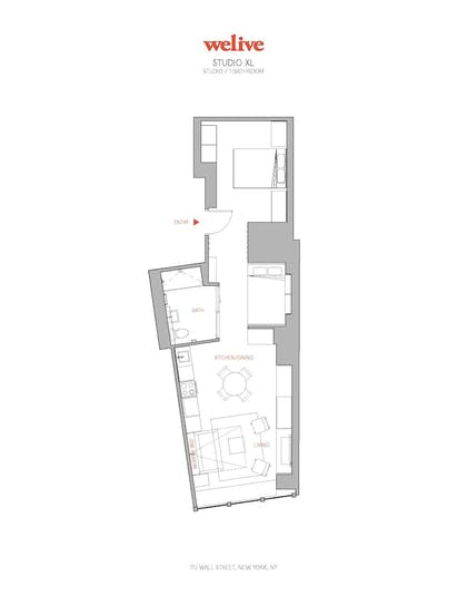 Floor plan | WeLive Wall Street