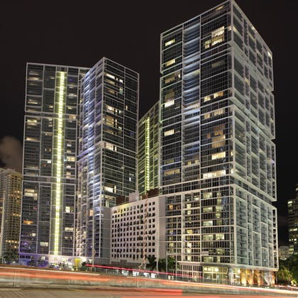 Front of Property - Evening/Night | Icon Brickell Downtown W Miami Suites