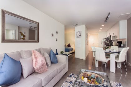 Living Area | Downtown LA Luxury Two Bedroom Apartment
