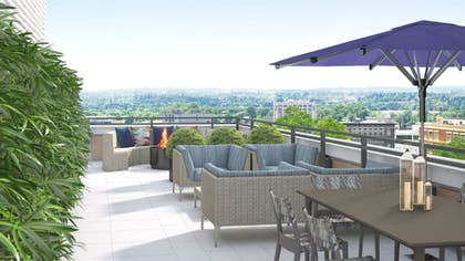 Terrace/Patio | Global Luxury Suites Capitol Hill/Navy Yard
