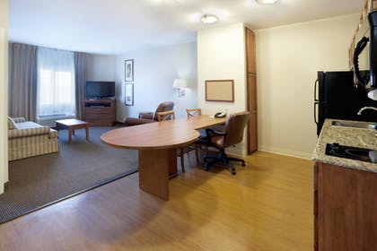 Living Room | Candlewood Suites - Temple Medical Center
