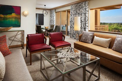 Living Room | The Canyon Suites at The Phoenician, Luxury Collection
