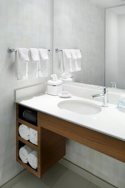 Bathroom | SpringHill Suites by Marriott Pittsburgh Bakery Square