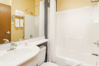 Bathroom | Microtel Inn & Suites by Wyndham Dickson City/Scranton