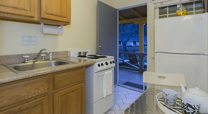 In-Room Kitchenette | The Lodge At Blue Lakes
