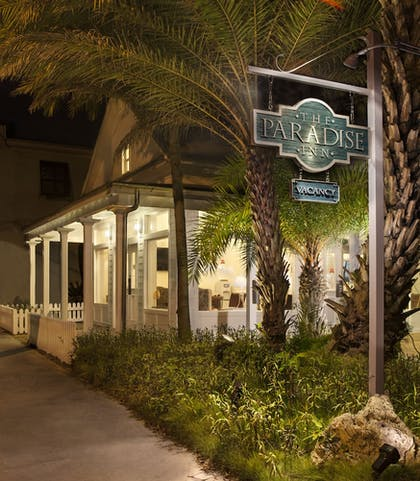 Hotel Front - Evening/Night | Paradise Inn Key West-Adults Only